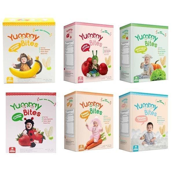 Foto Produk yummy bites baby rice crackers 50gr dari Griya Bayi