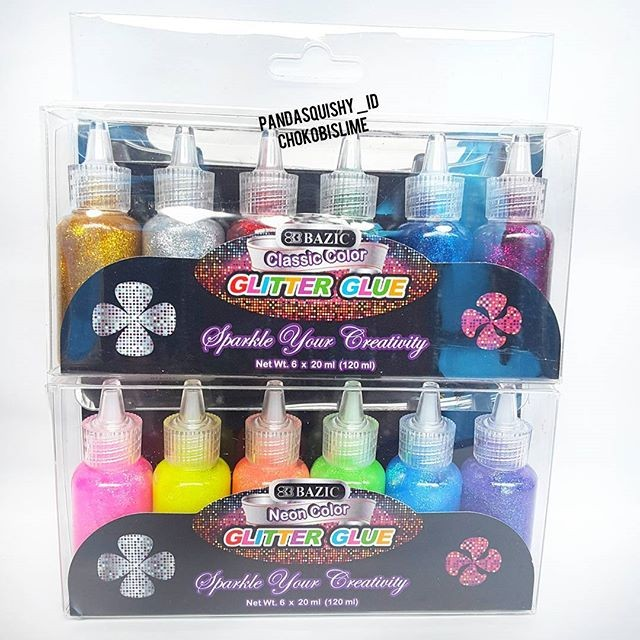 harga Glitter glue by bazic - diy kit neon warna lem glitter Tokopedia.com