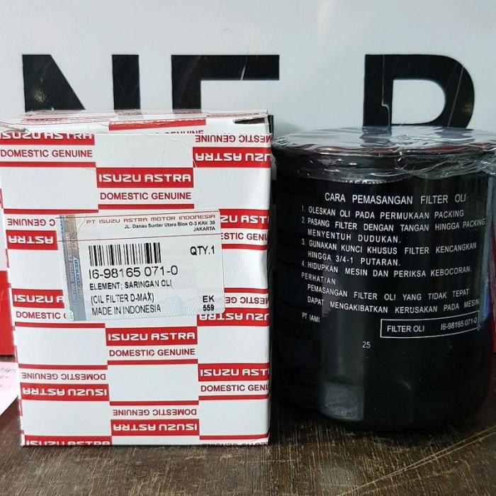 harga Filter oli isz mux 2.5 cc '14  6 - 98165 - 071 asli -17033- Tokopedia.com