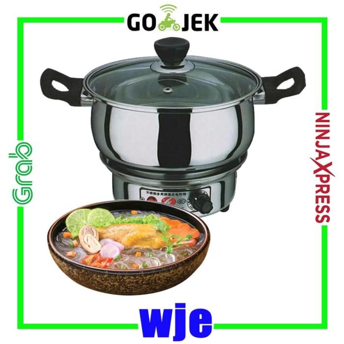 Panci listrik/panci electrik stainless 24 cm alat masak serbaguna