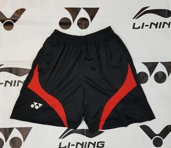 harga Celana pendek badminton yonex cpy06 hitam merah Tokopedia.com