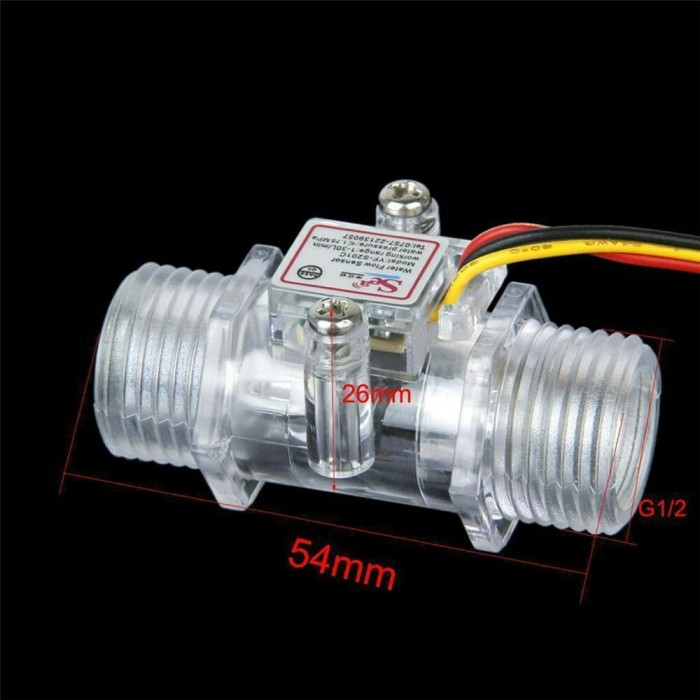 harga Wfsp-04a water flow sensor aliran arus air debit 1/2 inch transparan Tokopedia.com