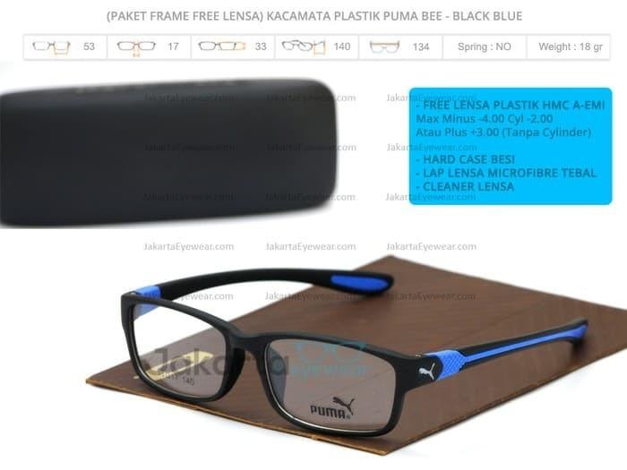 harga (paket gratis blue ray lens 1.61) kacamata puma bee sport Tokopedia.com