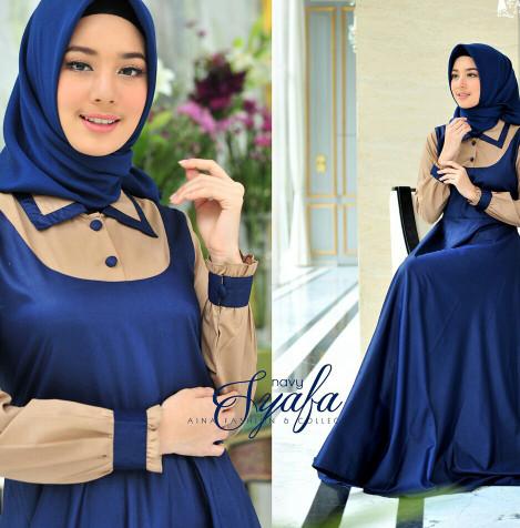 syafa nm baju setelan muslim gamis syari hijab bisa ukuran jumbo