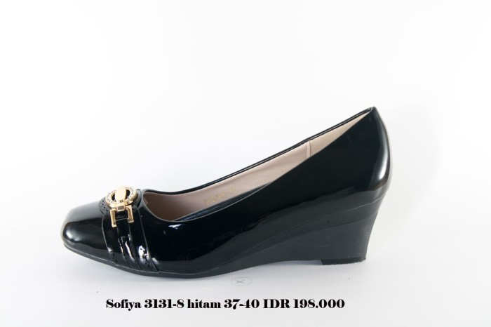 ... harga Sofiya 3131-8 sepatu wedges wanita hitam Tokopedia.com aaf1ce388a
