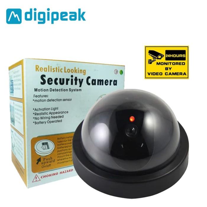 CCTV Palsu / Dummy / Fake / Tiruan (Kamera Camera Simulasi Replika) DM - Hitam