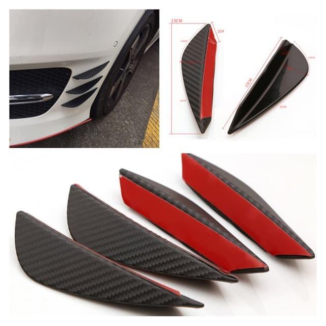 harga Karet body mobil - pelindung body - front bumper fins lip carbon Tokopedia.com