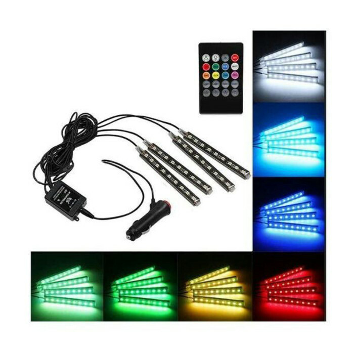 harga Lampu led kolong dashboard rgb multi warna / kontrol remote & suara Tokopedia.com