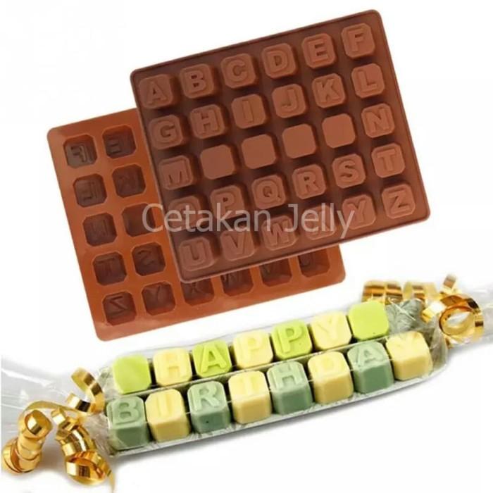 Cetakan puding / coklat uppercase box iii (huruf besar)