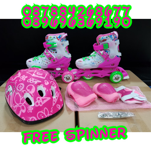 harga Sepatu roda anak lengkap helm body protektor inline skate Tokopedia.com