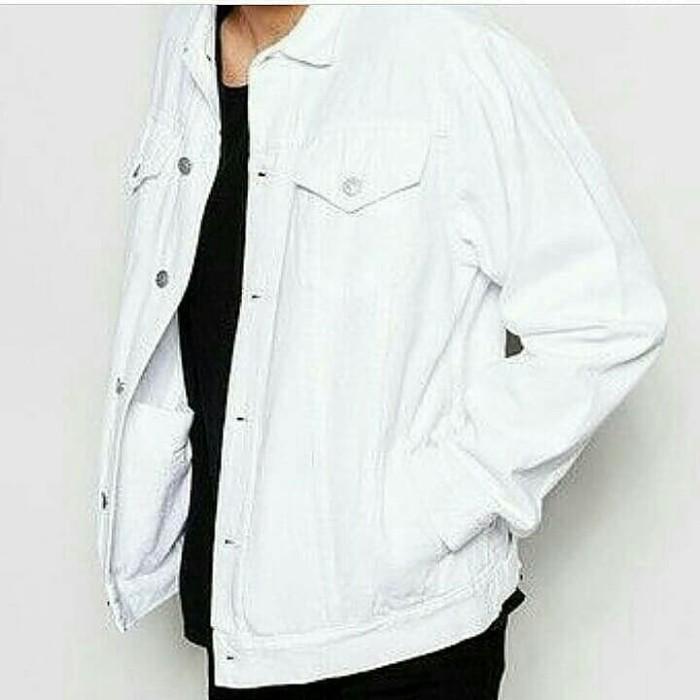 Jaket Jeans warna Putih Unisex Jeans Levis Jeans Pria Wanita Distro
