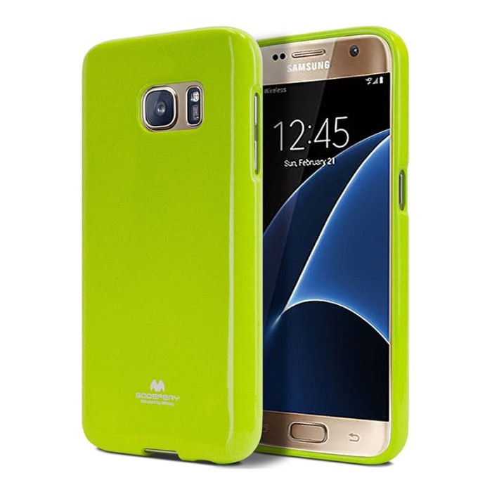 goospery samsung galaxy a5 pearl jelly case - lime