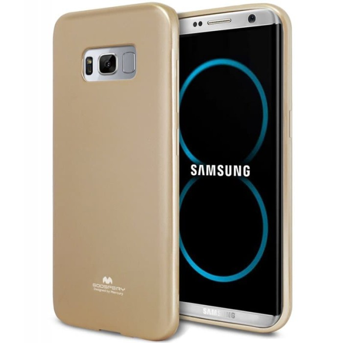 goospery samsung a5 2017 pearl jelly case - gold