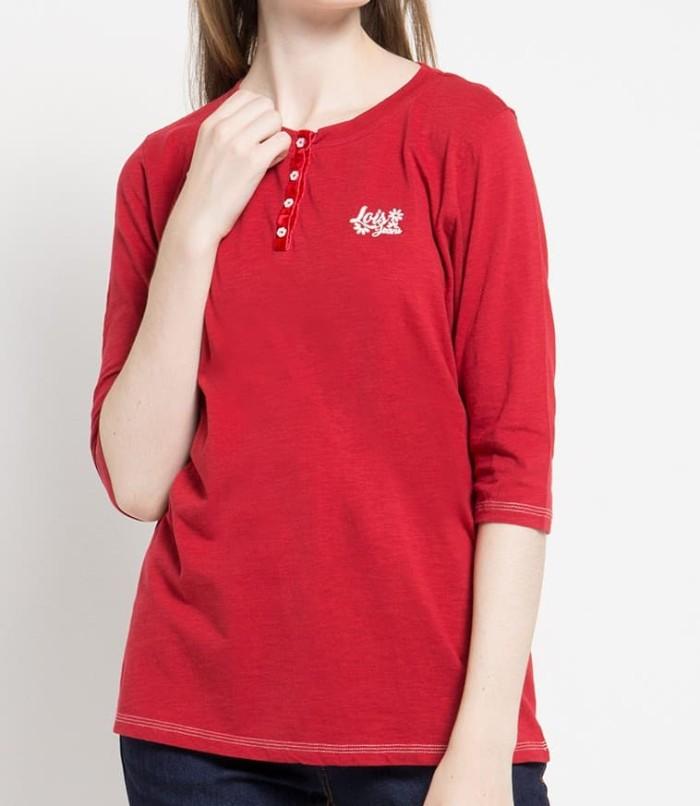 lois jeans original - kaos wanita ksc514 - merah xl