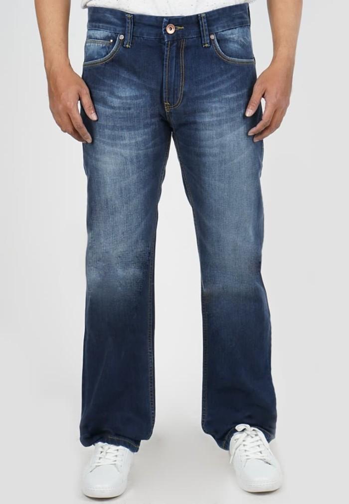 lois jeans original - celana panjang pria straight cut cfs322 - biru 32