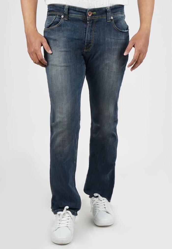 lois jeans original - celana panjang pria slim fit sls330f - navy 32
