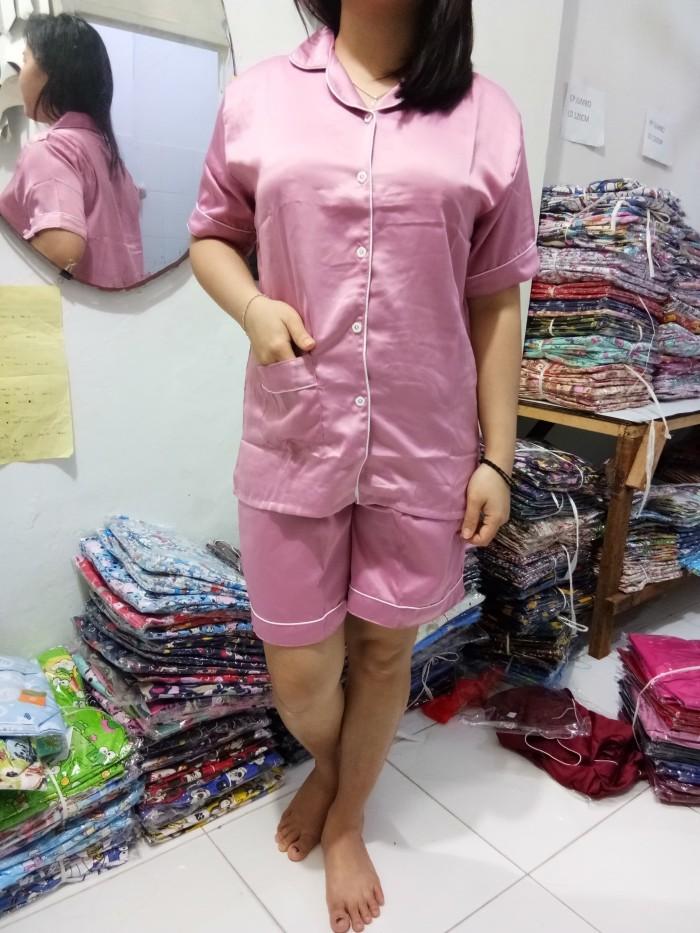 Foto Produk Piyama HP/Hotpants Satin Polos dari Elvindo_shop