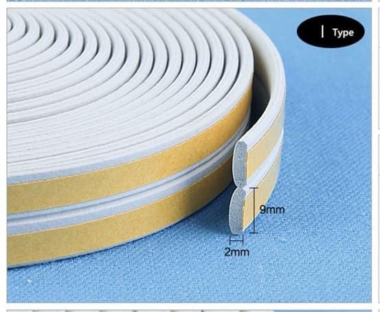 """Foto Produk Window Door Seal I Penutup Celah Pintu Jendela Profil I Tipe """"I"""" - Putih dari Toko Aisyah24"""