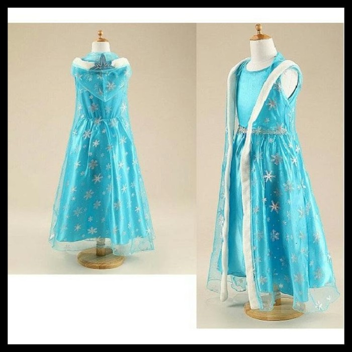 Jual (Big Sale!!!) 3In1 Kostum Elsa Frozen Mahkota Baju Anak Import ... 562cd7c853