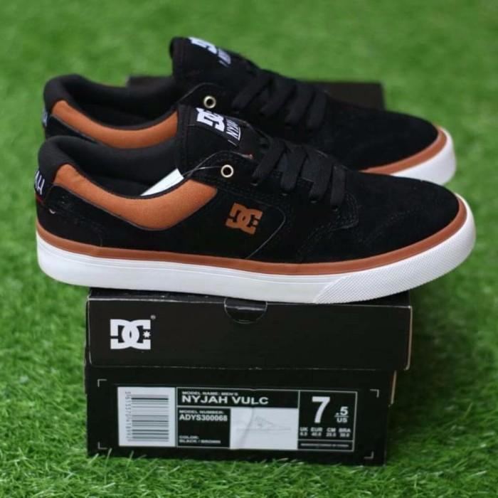 Jual Dc Shoes Nyjah vulc Black Brown Miror Quality Sepatu Casual DC ... b8e298a526