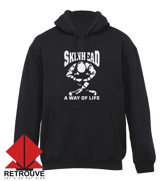 SKINHEAD SITTING HOODY SWEATSHIRT BLACK