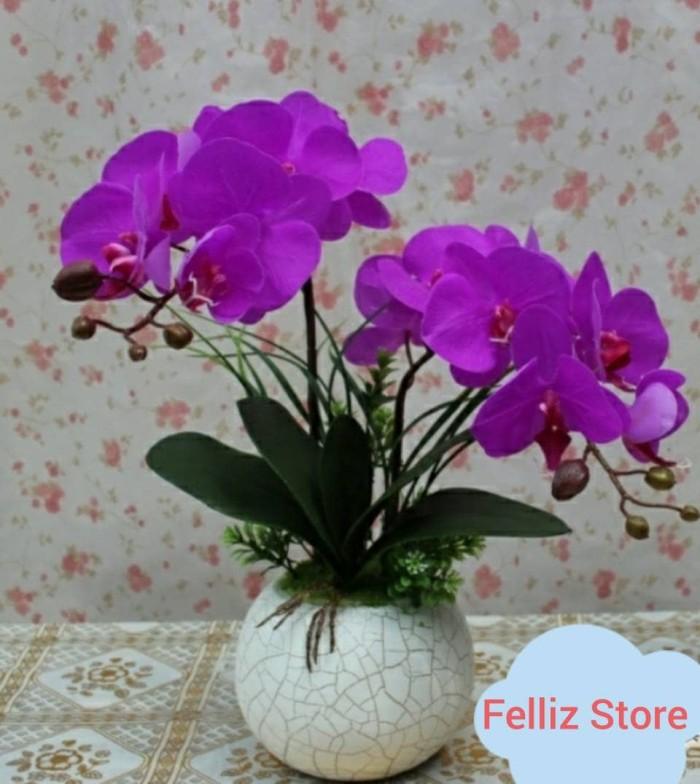 Jual Rangkaian Bunga Anggrek Latex Import - Fuschia - Impor Grosir ... 717a7f7250