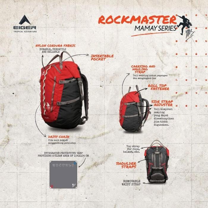 harga Tas ransel eiger 910003340 rockmaster 50l tas hiking/trekking/outdoor Tokopedia.com