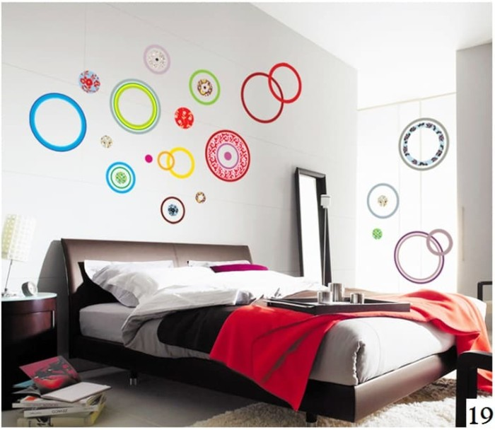Wall sticker wall stiker wallsticker dinding 19 red circle