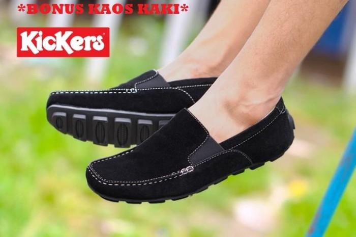 harga Sepatu simple kickers nyeak slop hitam Tokopedia.com