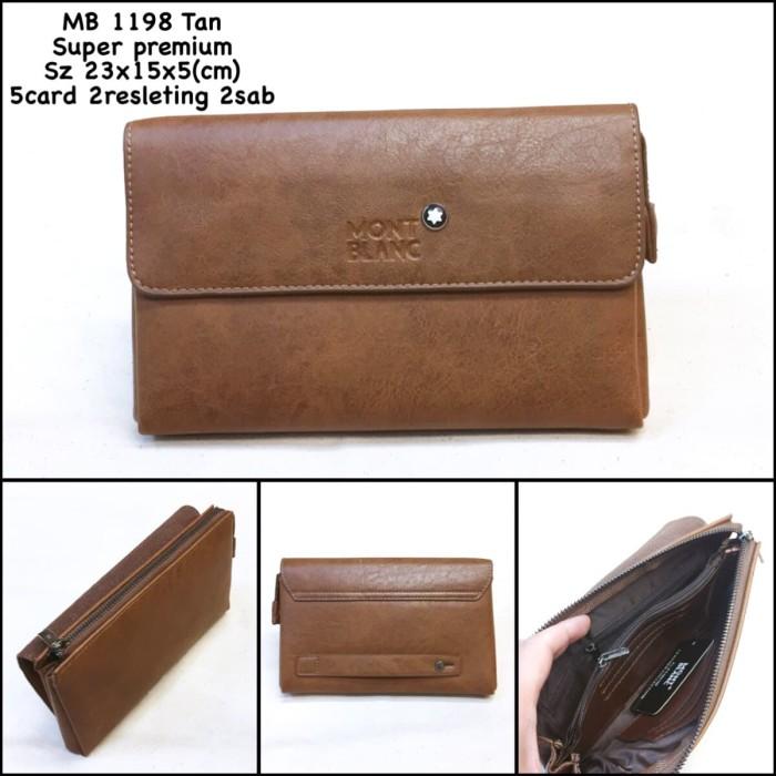 Clutch Pria Montblanc 1198 Tan Super Dompet Tas Handbag