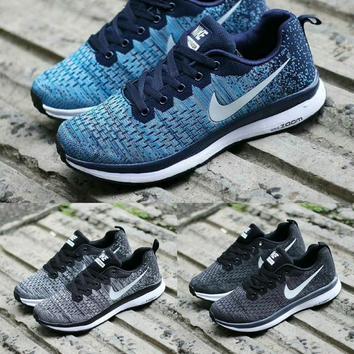 harga Nike flyknit racer size 39 - 43 sepatu pria olahraga abu biru sports Tokopedia.com