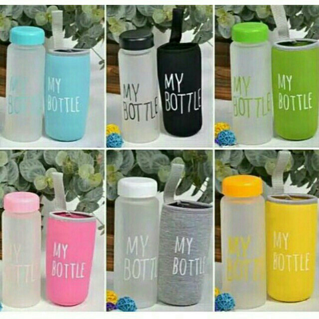 MY BOTTLE DOFF Bpa Free 500ml Free Pouch - Biru Muda