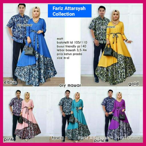 harga Baju batik gamis sarimbit couple dress hijab muslim keluarga mewah Tokopedia.com
