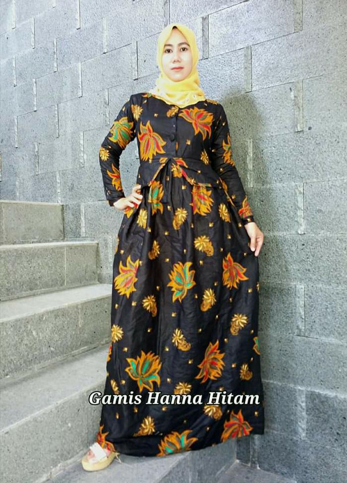 harga Baju gamis dress batik jiwangga bahan katun terbaru Tokopedia.com