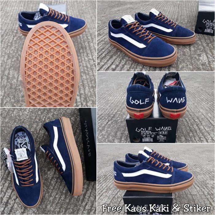 e3ece587f4eb Jual Sepatu vans old skool golf wang navy gum PREMIUM BNIB - Navy ...