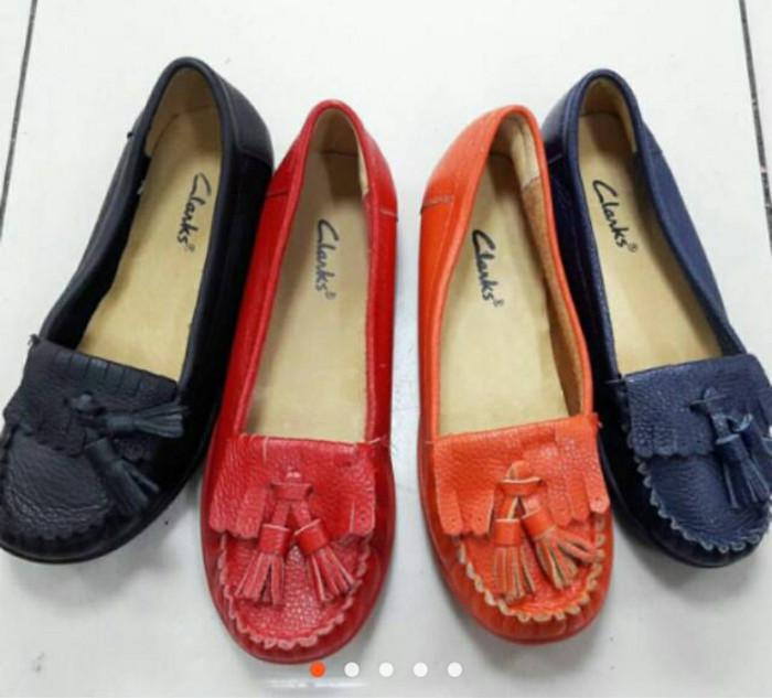 Jual Sepatu Clarks   Sepatu Formal Wanita   Cewek - Navy 945193798e