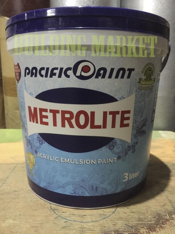 harga Cat tembok metrolite 3 liter putih kebiruan interior Tokopedia.com