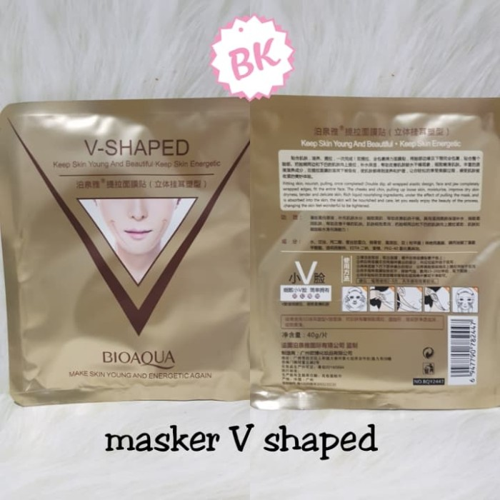 Bioaqua V Shaped / Masker Muka Tirus V-Shaped