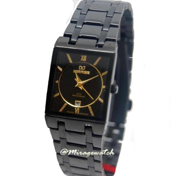 Jam tangan wanita mirage hitam 7908l ph black 92a6cb33e7