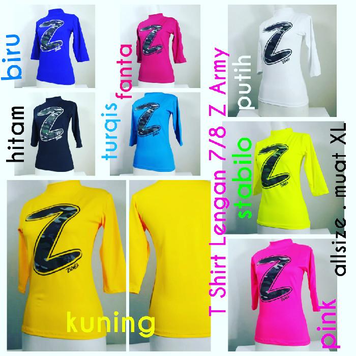 Baju Senam Zumba T Shirt Lengan 7/8 Z Army