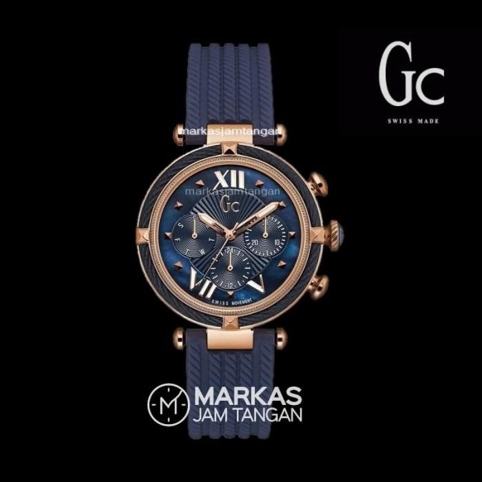 ... harga Jam tangan wanita guess collection gc cablechic blue rubber watch  ori Tokopedia.com 5631385bb4