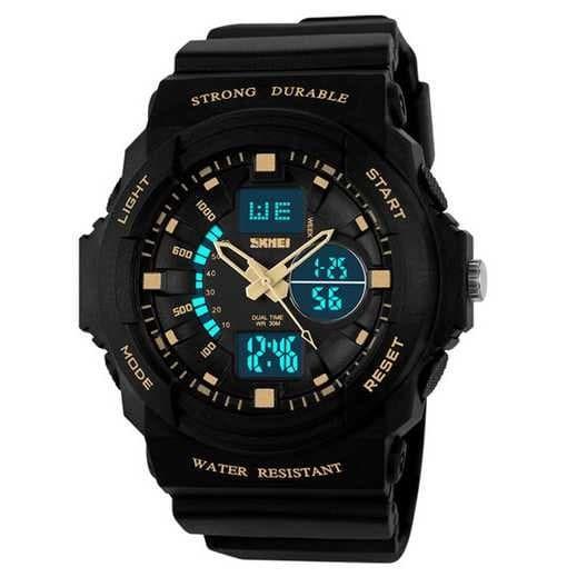 harga Jam tangan sport anak muda skmei 1061 original - hitam gold Tokopedia.com