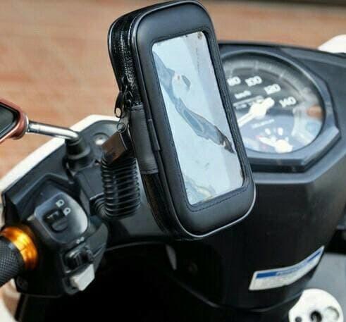 harga Holder sepeda motor spion waterproof ukuran m (5 inch) Tokopedia.com