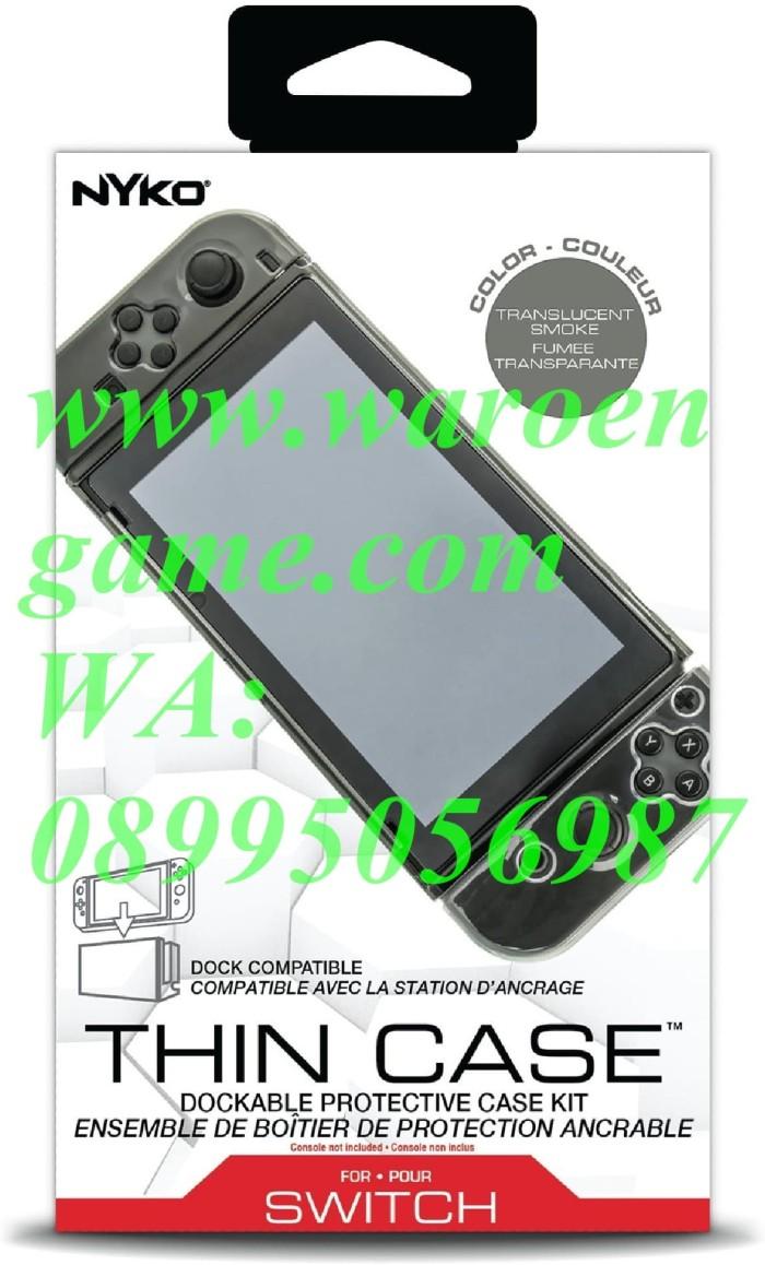 Jual Nyko Dockable Thin Case Temper Glass Nintendo Switch Smoke Grey Jakarta Utara Waroengame