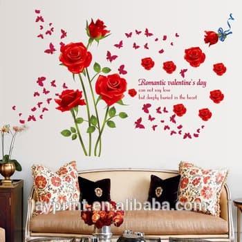 jual wall stiker 60x90 sk9195 red roses ii walstiker wallsticker