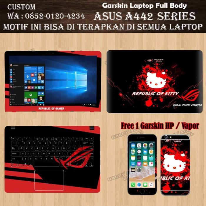 c79cde8e3 Jual Garskin Laptop Full Body Asus A442 Series Motif Republic Of ...
