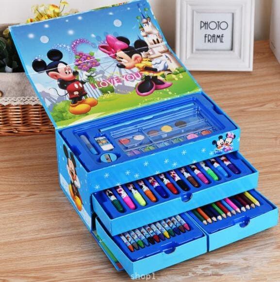 Jual Crayon Set Isi 54pcs Art Set Isi 54 Pcs Alat Mewarnai Mainan