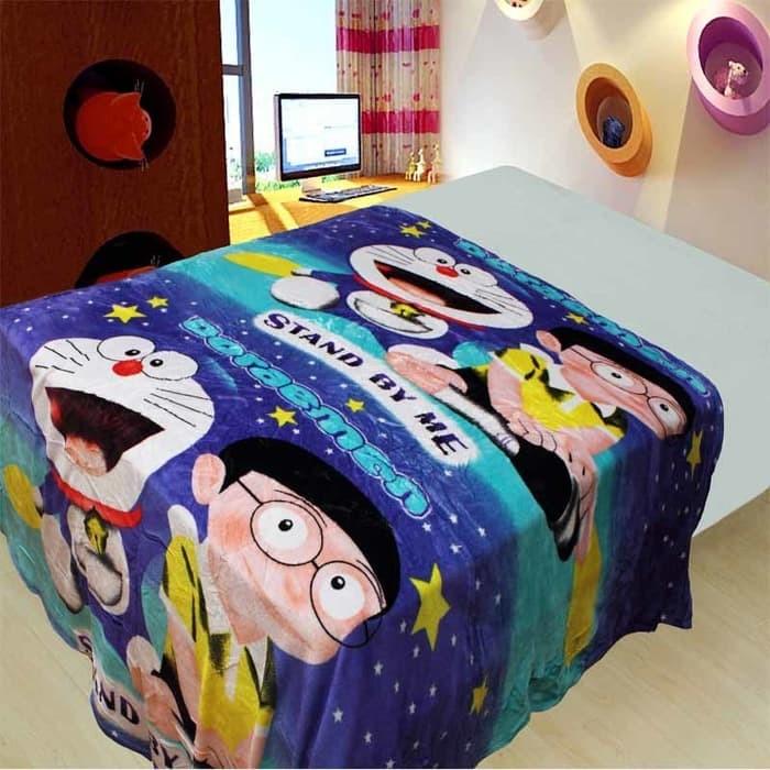 Selimut Bulu Lembut (Soft Panel Blanket) Motif Doraemon New Movie DR07