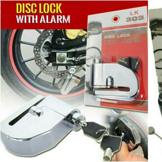 Gembok ALARM DISC LOCK Cakram Motor