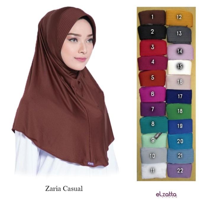 Jual Hijab Bergo Polos Terbaru Elzatta Zaria Casual 2018 Elzatta